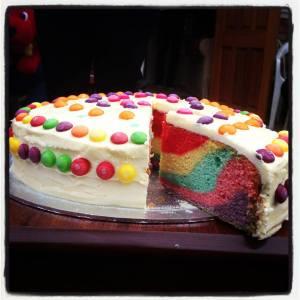 The Skittles cake