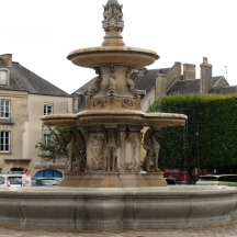 A lovely fountain in Bayaux